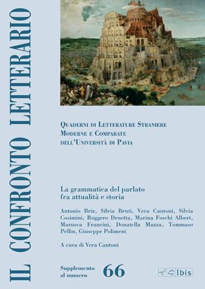Confronto letterario 66 supplementoLa grammatica del parlato tra attualità e storia